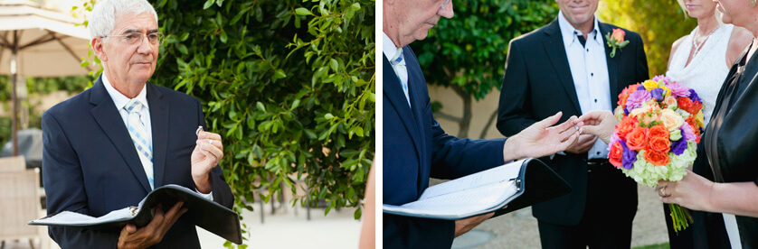 Wedding Officiant Elopement Palm Springs California ring ceremony