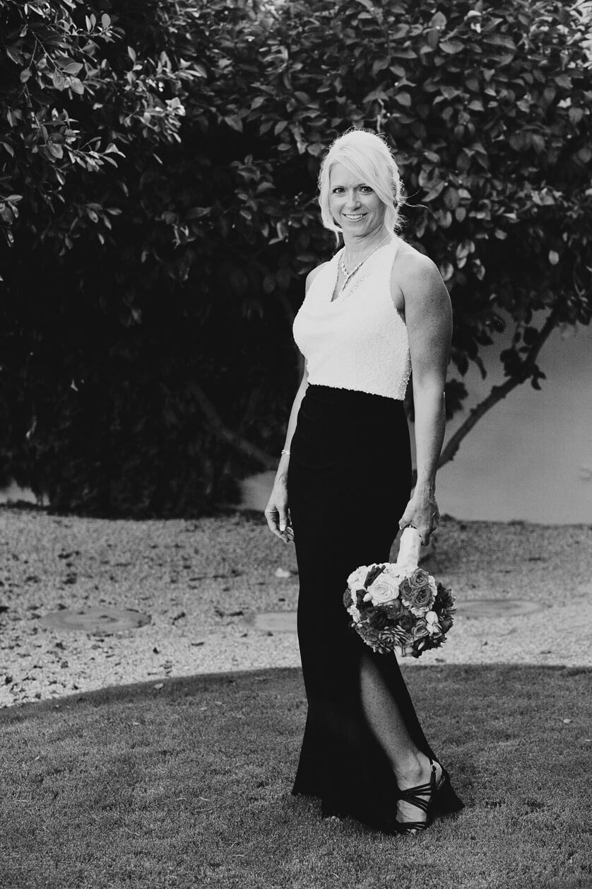 Bridal portrait in black and white in Palm Springs ca.