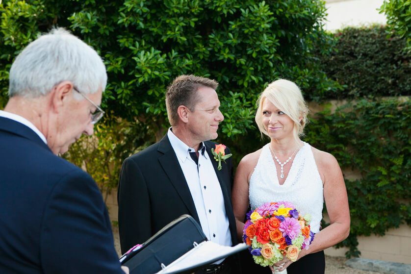 Ceremony Elopement Palm Springs Wedding Richard Cadieux officiant