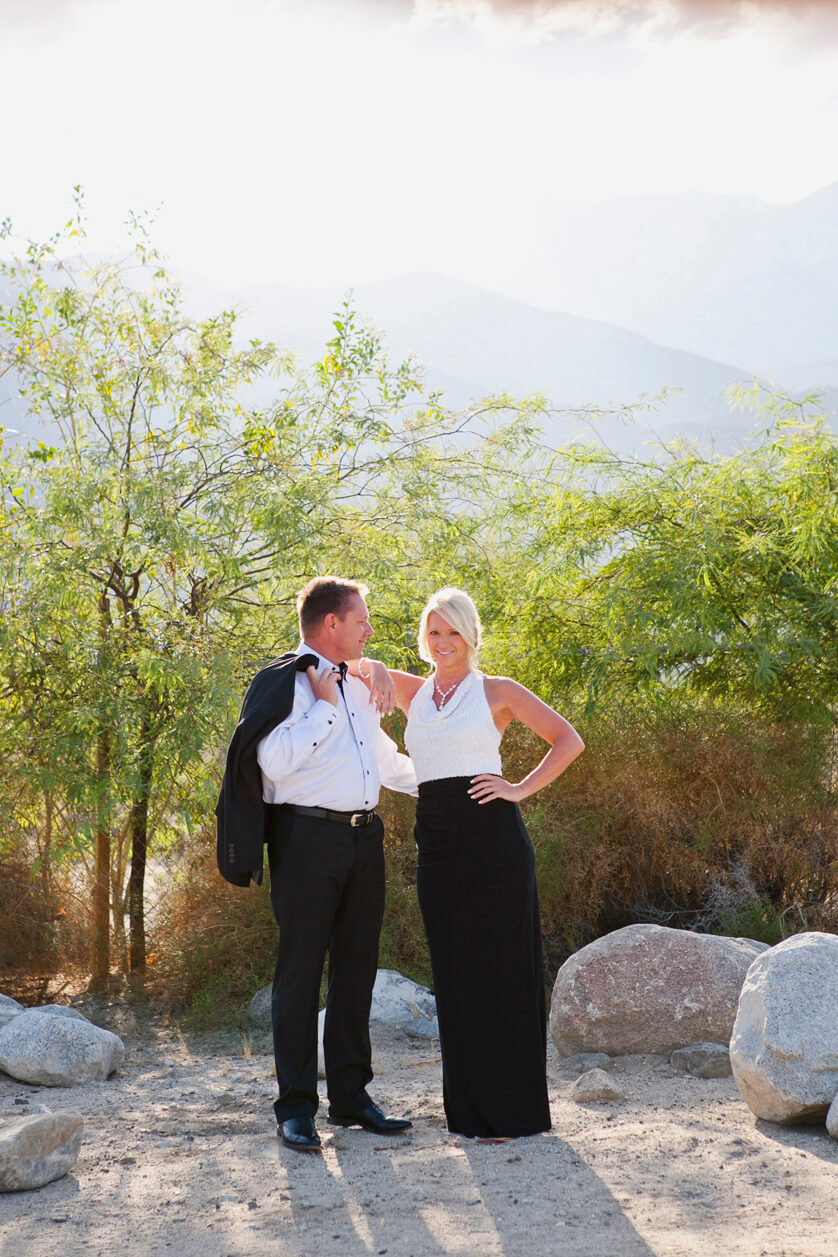 Palm Springs elopement, couples portraits Palm Springs desert light