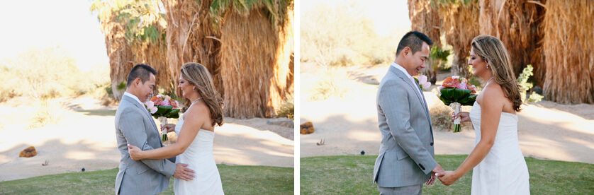 First Look Palm Desert Nuptials photographer