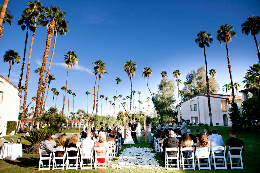Wedding ceremony at Omni Rancho Las Palmas