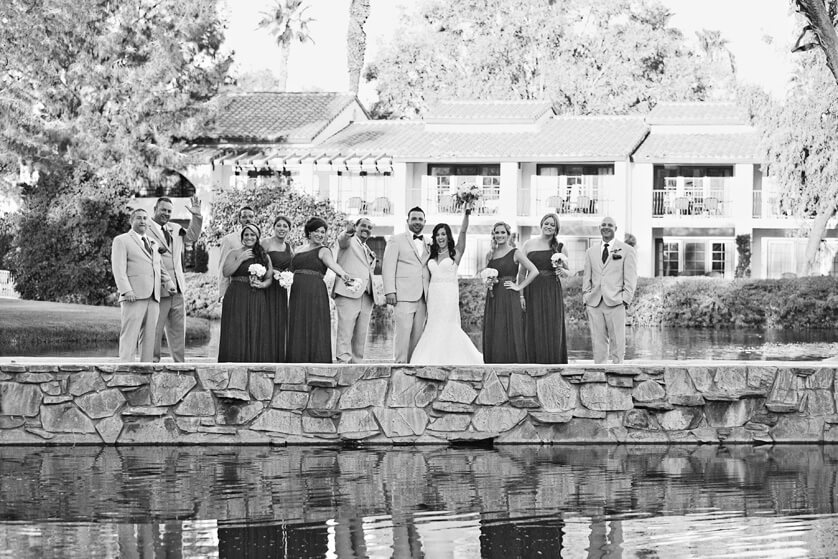 Wedding Party on bridge