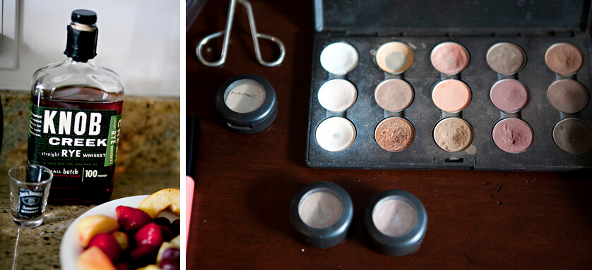 Wedding details, makeup