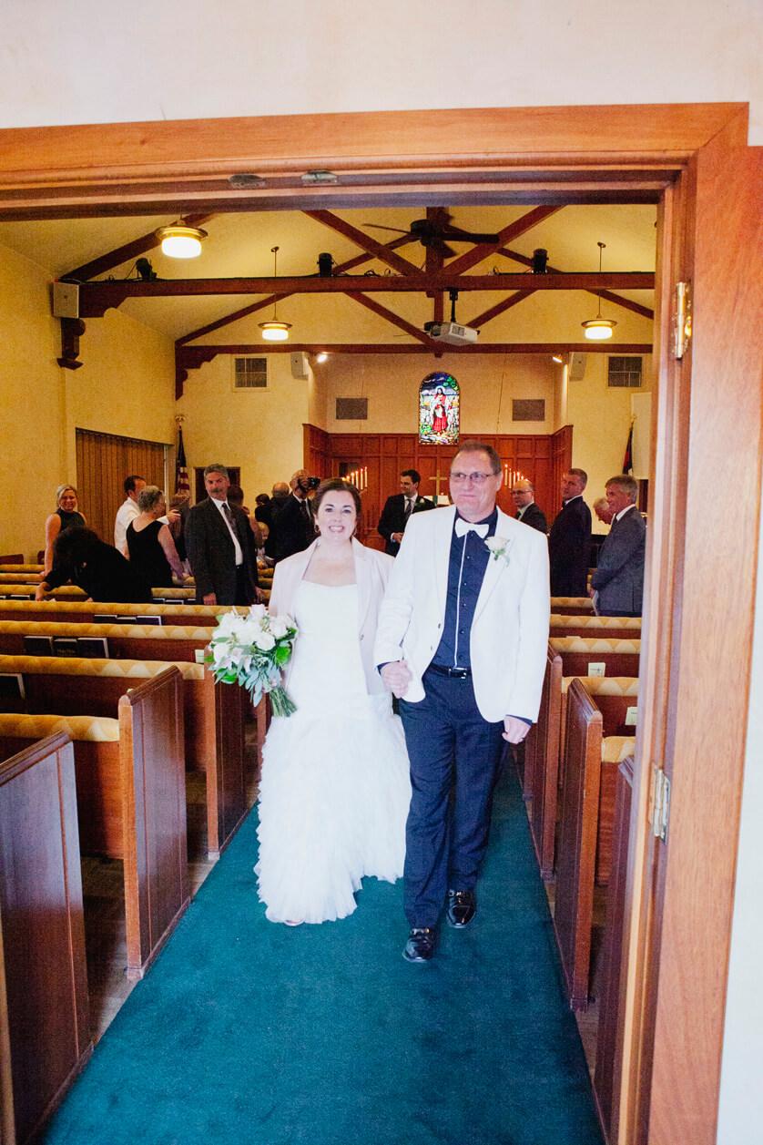 Palm Springs California Church wedding