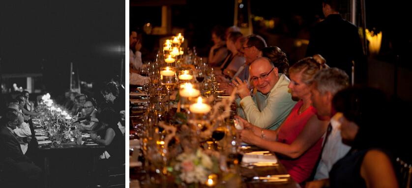 low light wedding dinner