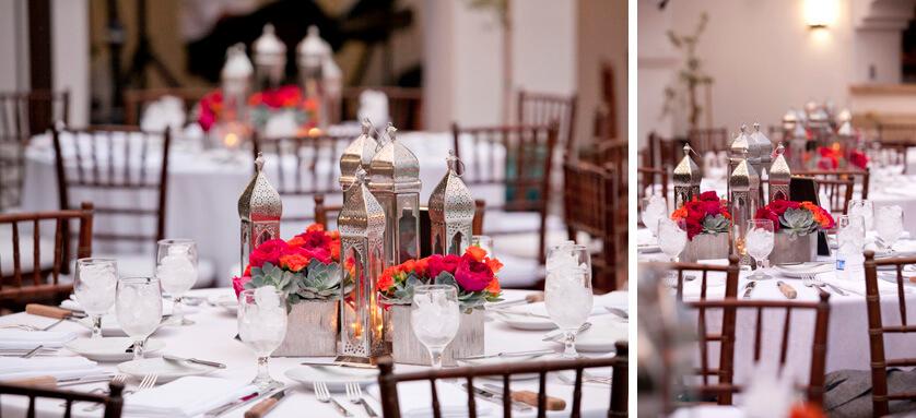 Centerpieces at Triada Wedding