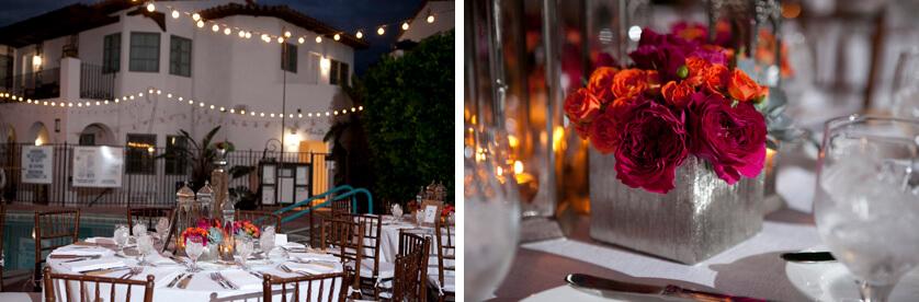 Triad wedding dinner decor
