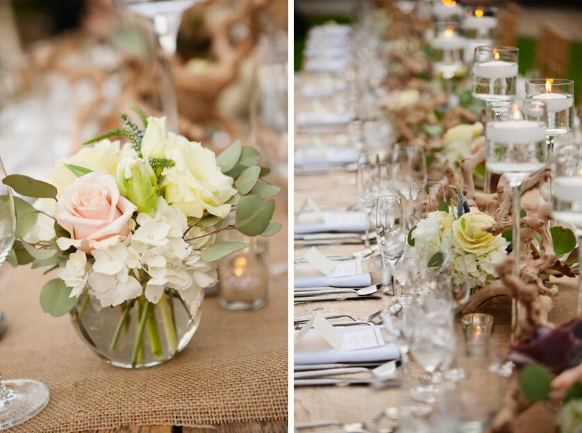Palm Desert Wedding reception dinner photography
