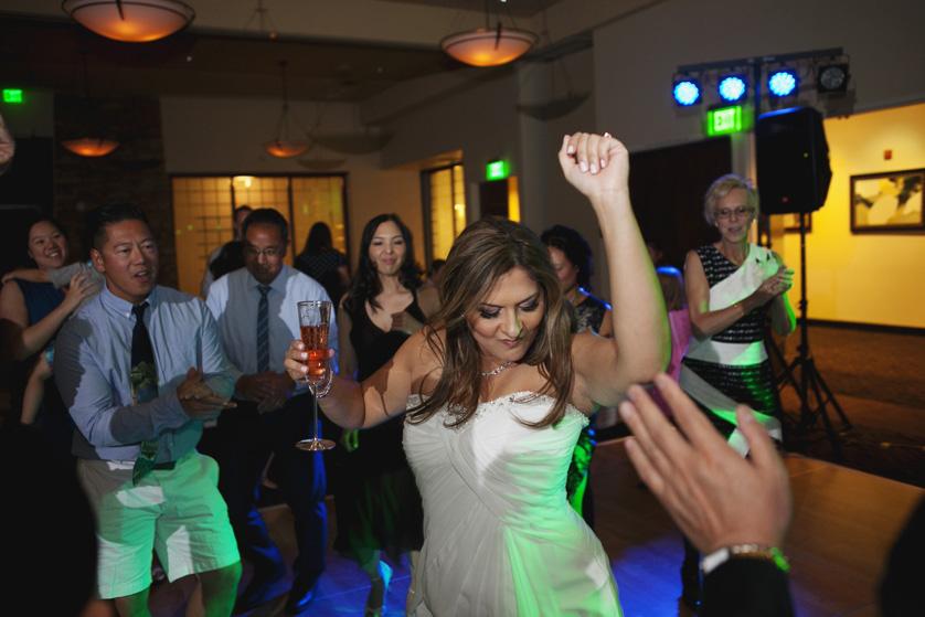 Bride enjoys her reception Palm Desert Photographer