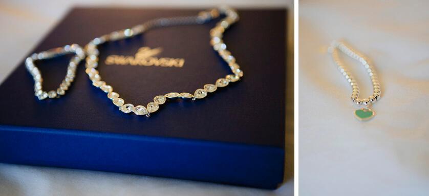 Brides necklace and bracelet