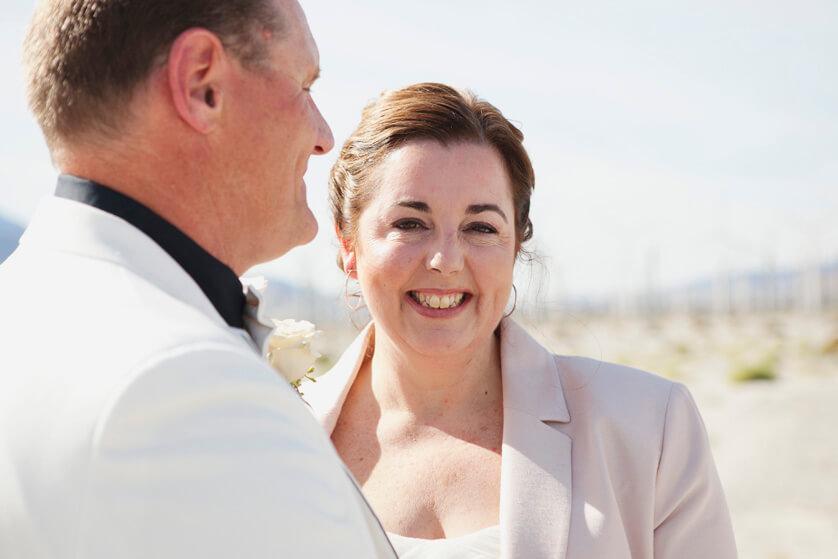 Natural, happy bride