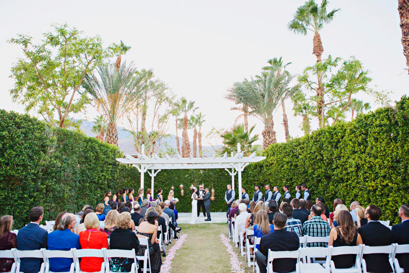 Ceremony lawn at Riviera Hotel Palm Springs