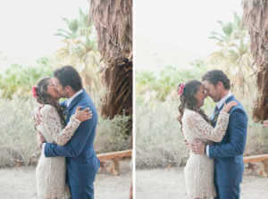 Bride and Groom Portraits at Coachella Valley Preserve