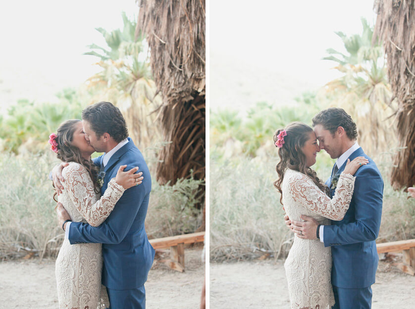 Bride and Groom Portraits at Coachella Valley Preserve