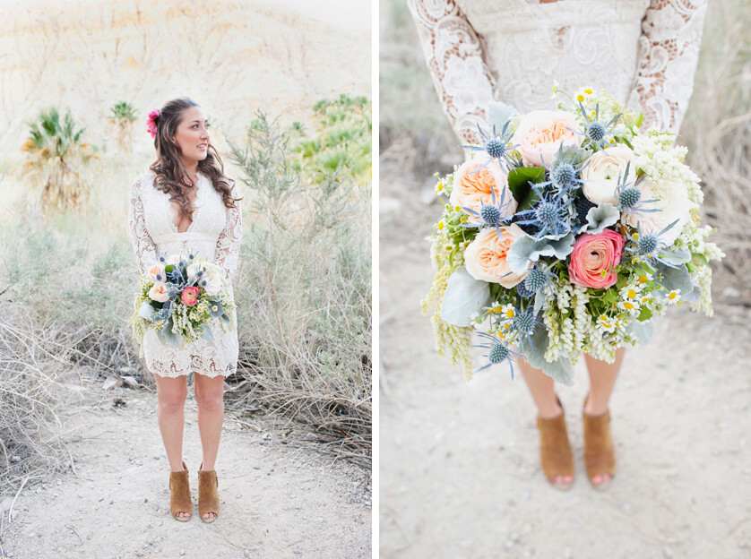 Elopement Palm Springs bridal portait