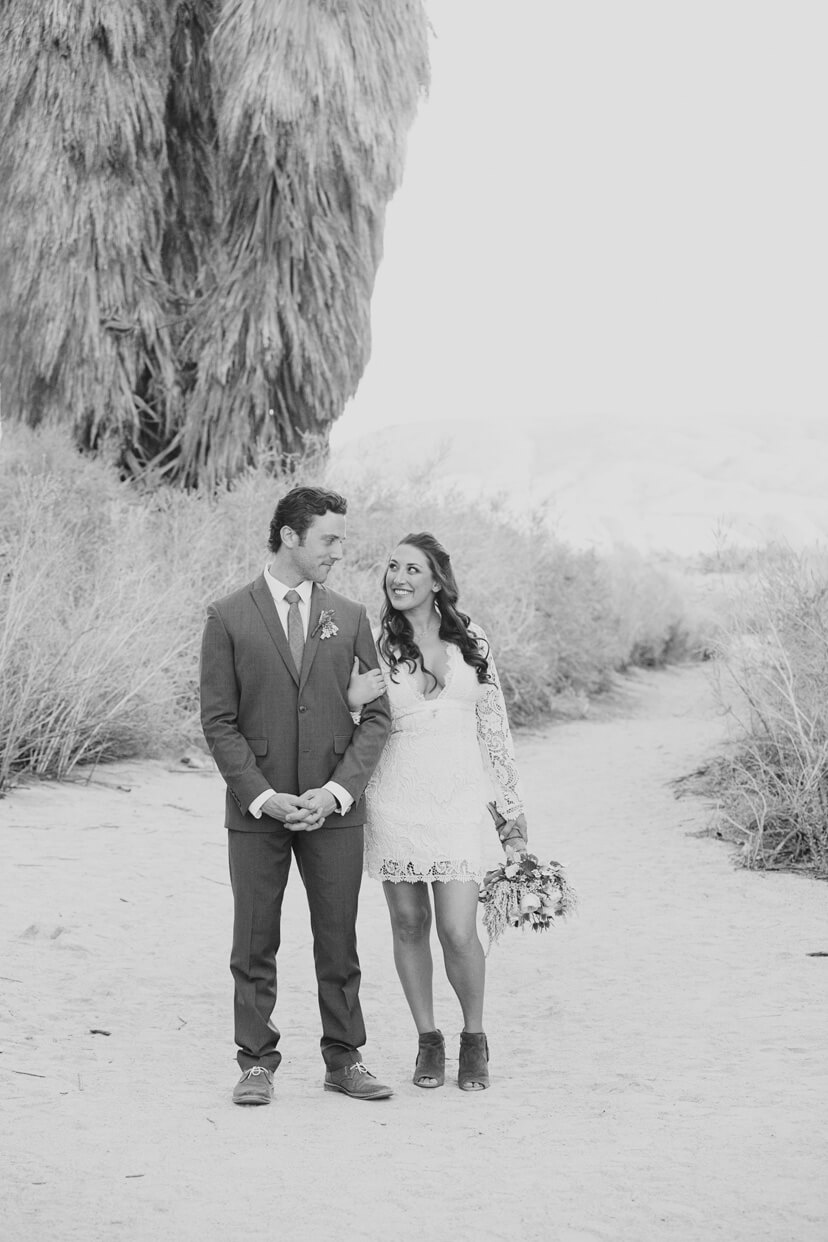Desert wedding elopement