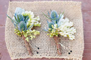 Gorgeous boutonnieres by the folks at Jensens grocery store.