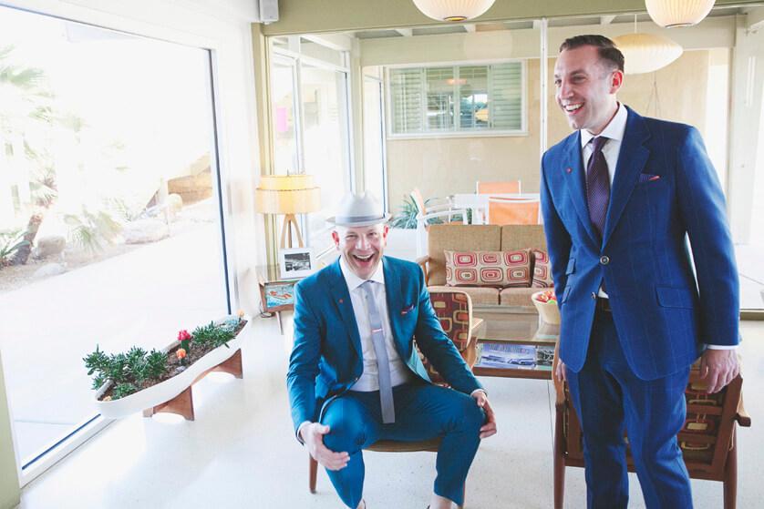 Documentary wedding photography Palm Springs California Same sex weddings