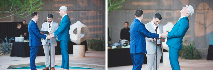 Ceremony at the Palm Springs Museum of art