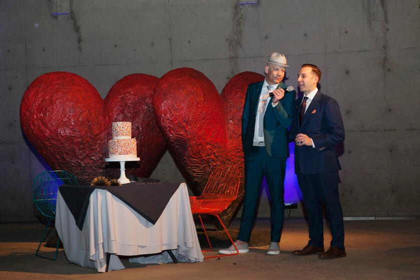 Gay wedding in Palm Springs California