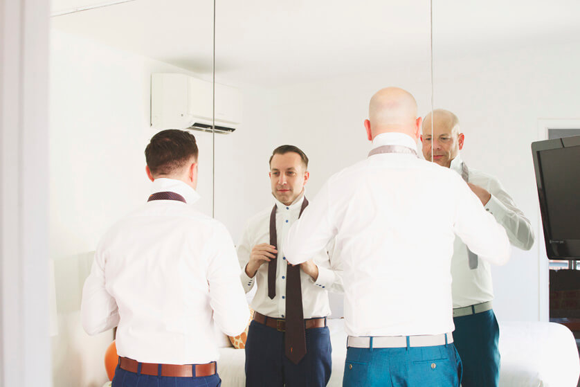Same Sex Wedding Photographer Palm Springs California Del Marcos Hotel Art Museum