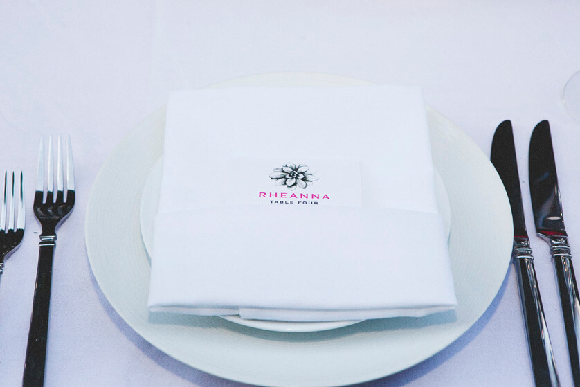 Napkin and menu details