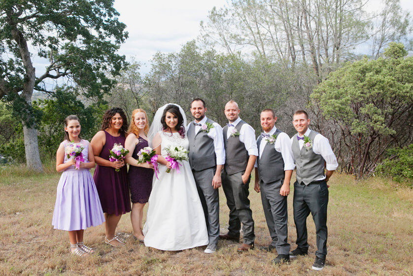 Family, Portraits, Wedding, Ceremony, Bridal party, Fun, Rustic, Yosemite, home
