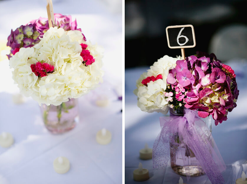 Weddding, Decor, Flowers, Hydrangea, candles,centerpieces,flowers
