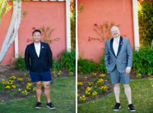 Natural posing for grooms portraits