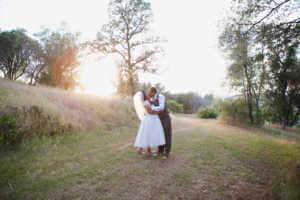 Sunset, Portrait, Romance, Wedding