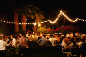 Dinner under the stars and bistro lights