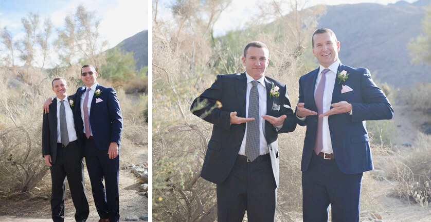 Groom, best man, goofy, fun, fun photographs, silly friends, outdoors