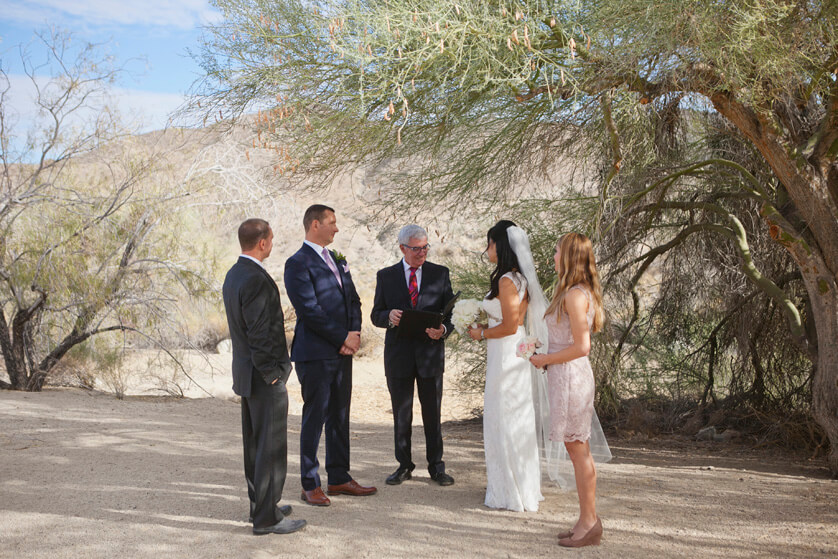 Desert, Ceremony, Elopement ceremony, Wedding, small wedding, National Monument, Palm Desert, Scenery