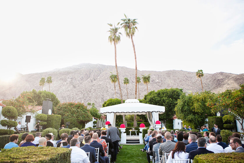 Mountain, ceremony site, Avalon views, Wedding venue, ceremony pergola, Palm Springs