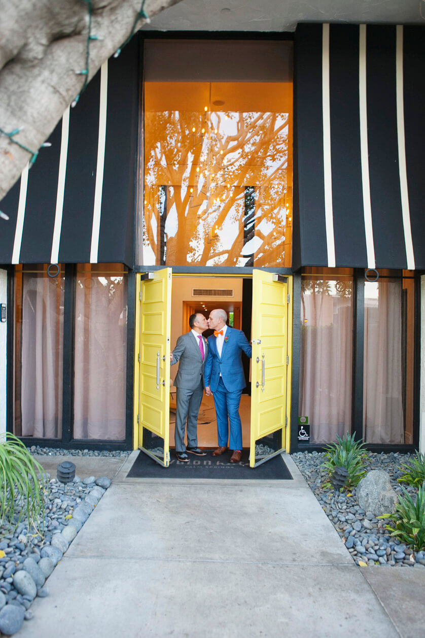 Avalon Doors, Yellow doors, Avalon, Palm Springs, Weddings Palm springs, wedding photography