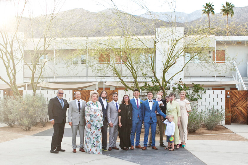 Wedding family photos, Palm springs Ace Hotel, Artisan Events Decor, PS wedding photography