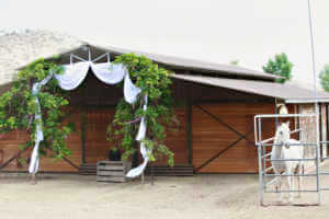The barn, ready for the wedding ceremony