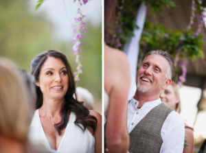 A couple of cute moments captured during the heartfelt ceremony