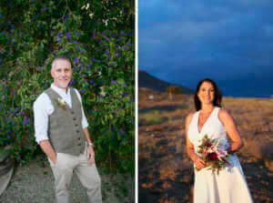 Simple, sweet portraits of the bride and groom