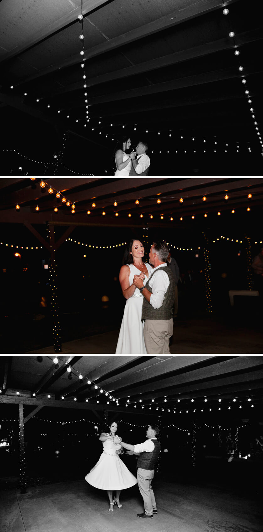 The couple dance their first dance together as husband and wife