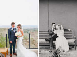 Couples photographs at the Ritz Carlton Hotel in Rancho Mirage