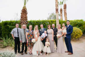 Relaxed family portraits at this Rancho Mirage California wedding