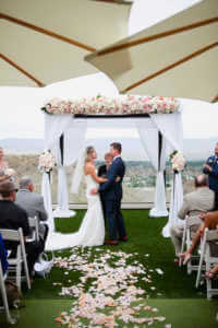 Married! the couple celebrate their ceremony in Rancho Mirage