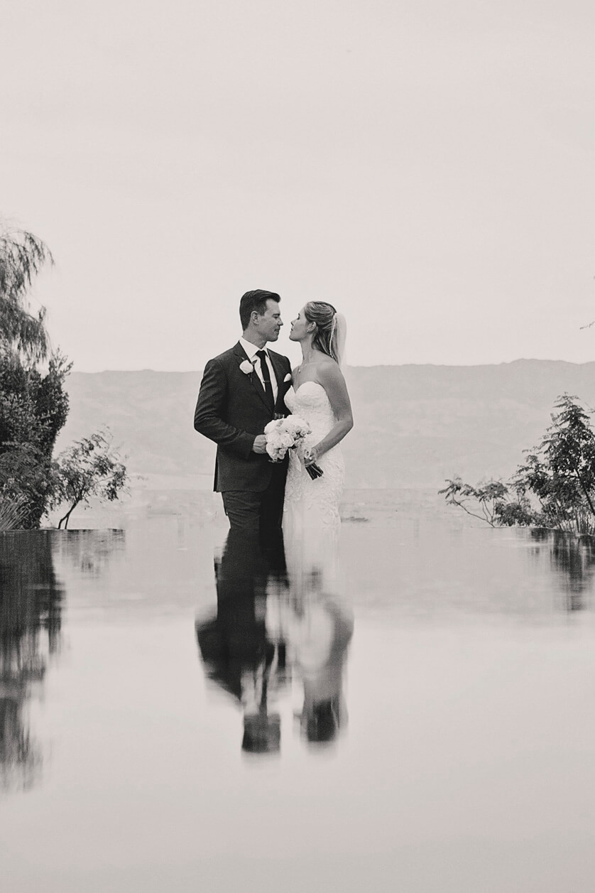Using the reflection pool at the Ritz for a creative image