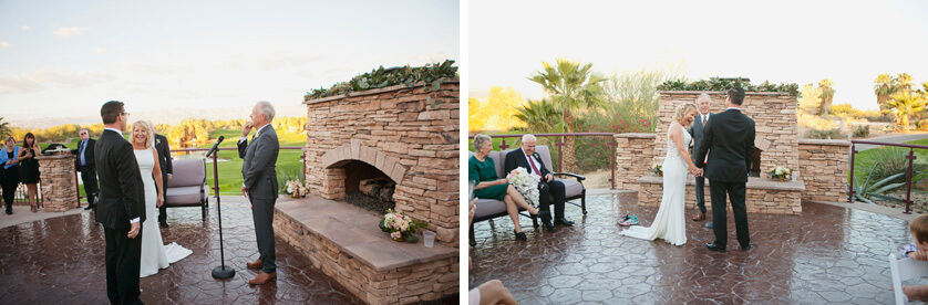 Wedding Ceremony with views at Desert Willow Golf club