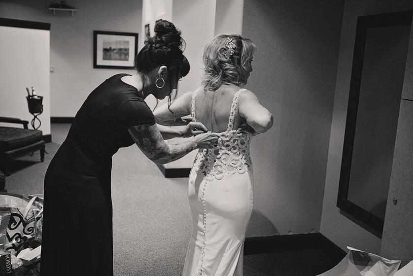 Wedding dress final moments