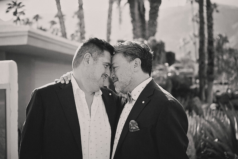 Gay Wedding portraits, Palm Springs ca.