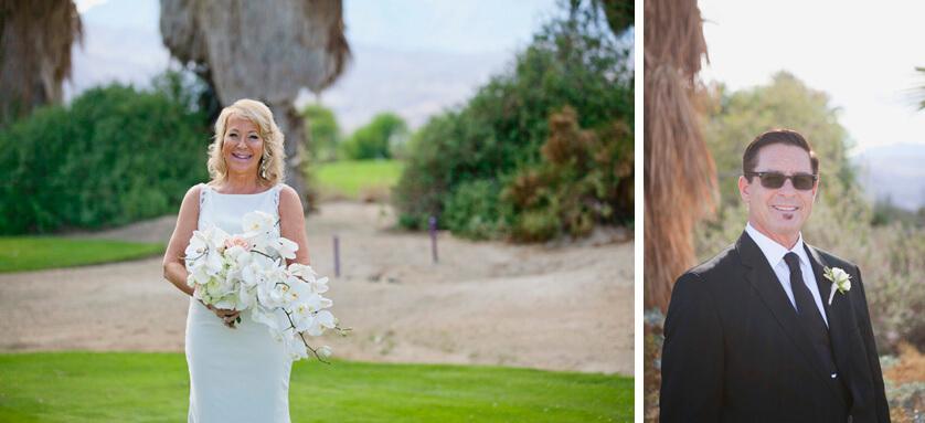 Bride and groom individual portraits