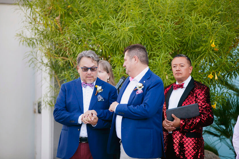 Same-Sex wedding ceremony Palm Springs Ca.